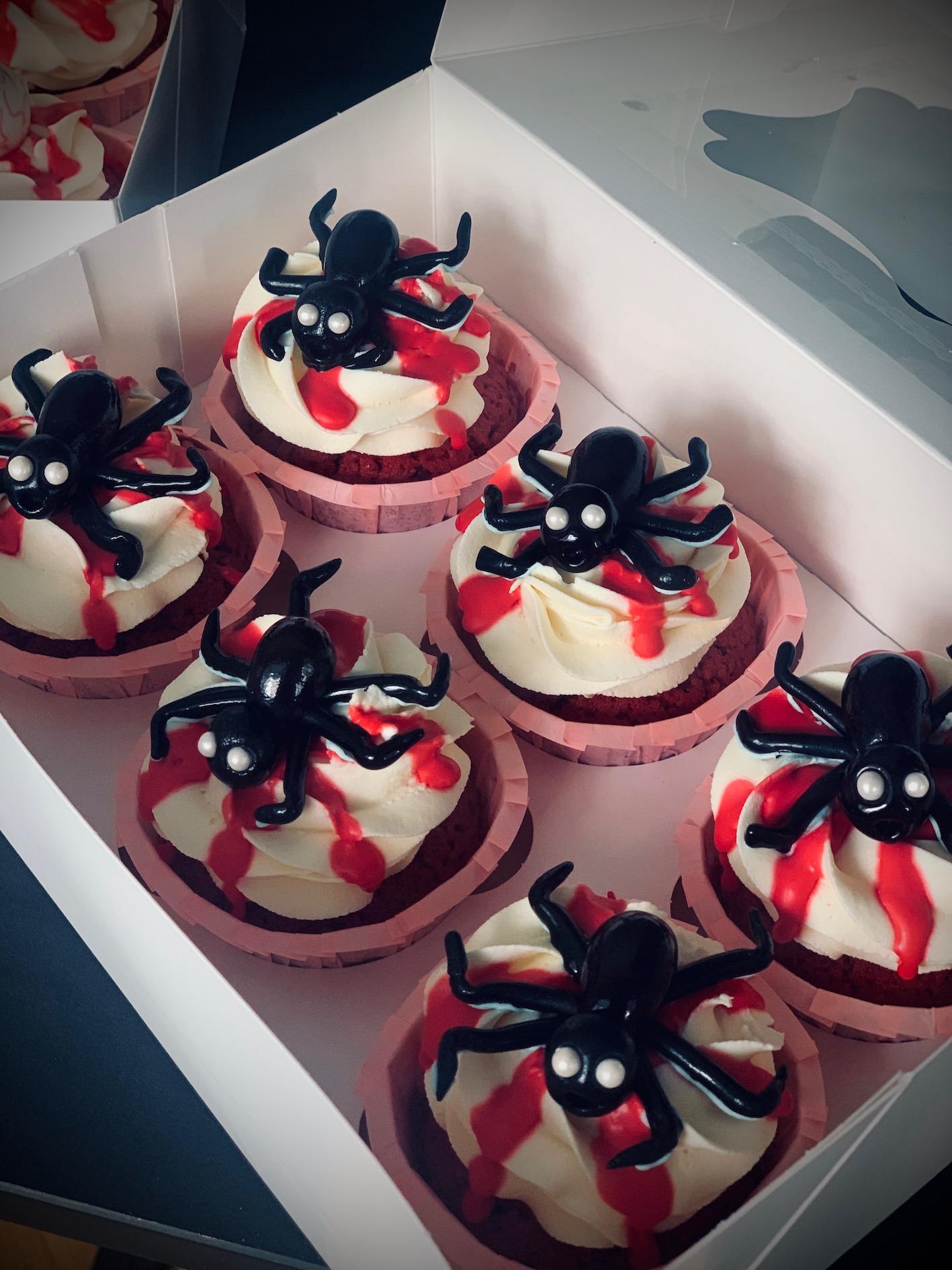 Halloween Spinnen Cupcakes