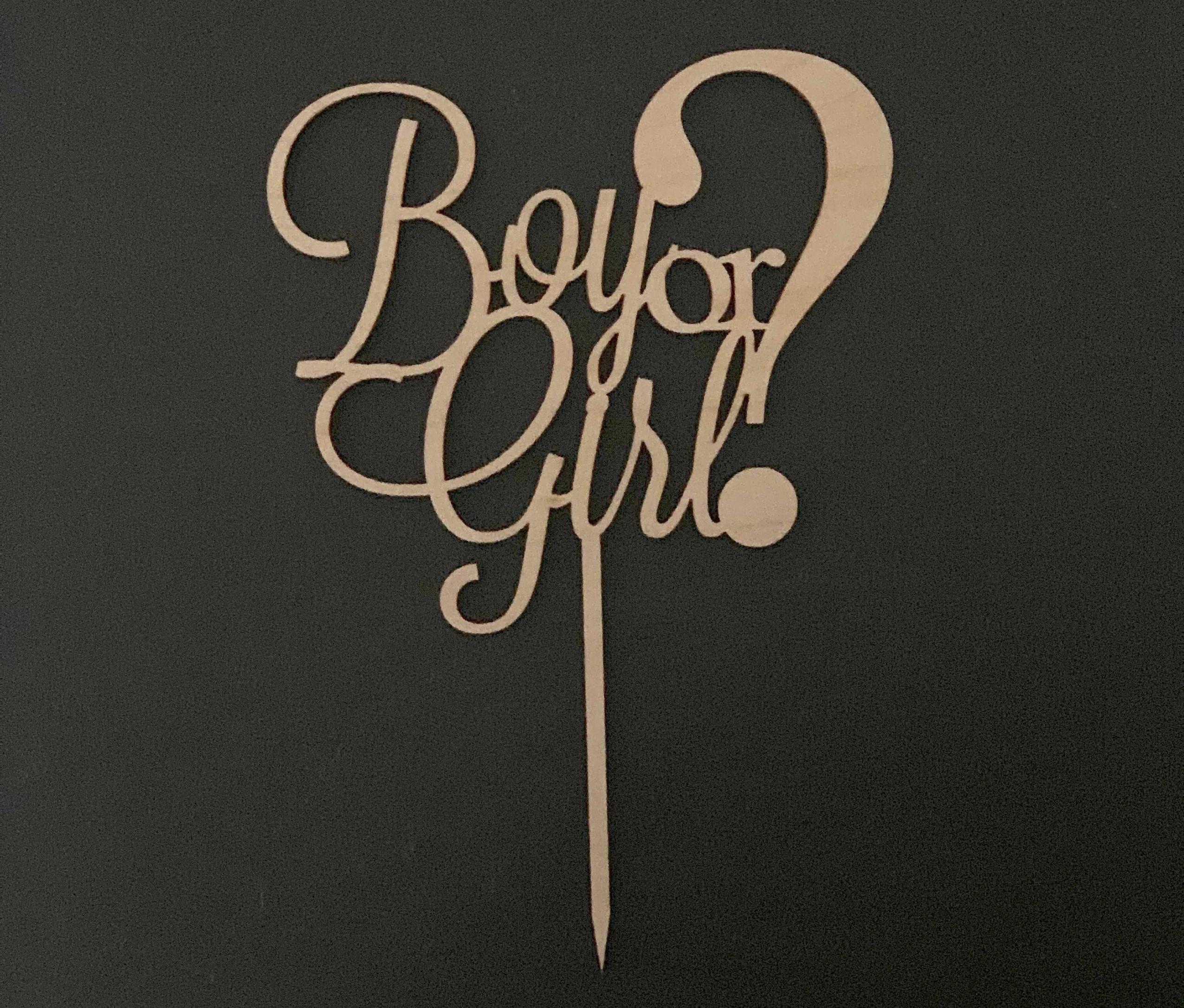 """Cake Topper """"Boy or Girl?"""""""