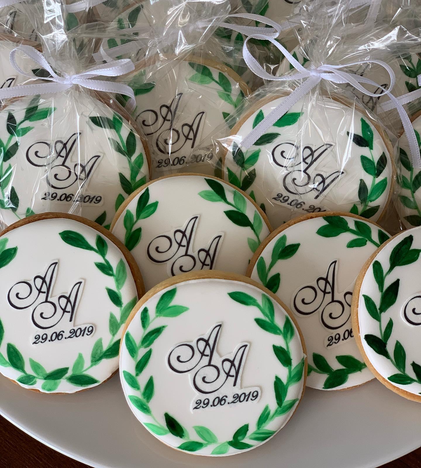 Zubehör: Einzelverpackung Kekse mit Schleife