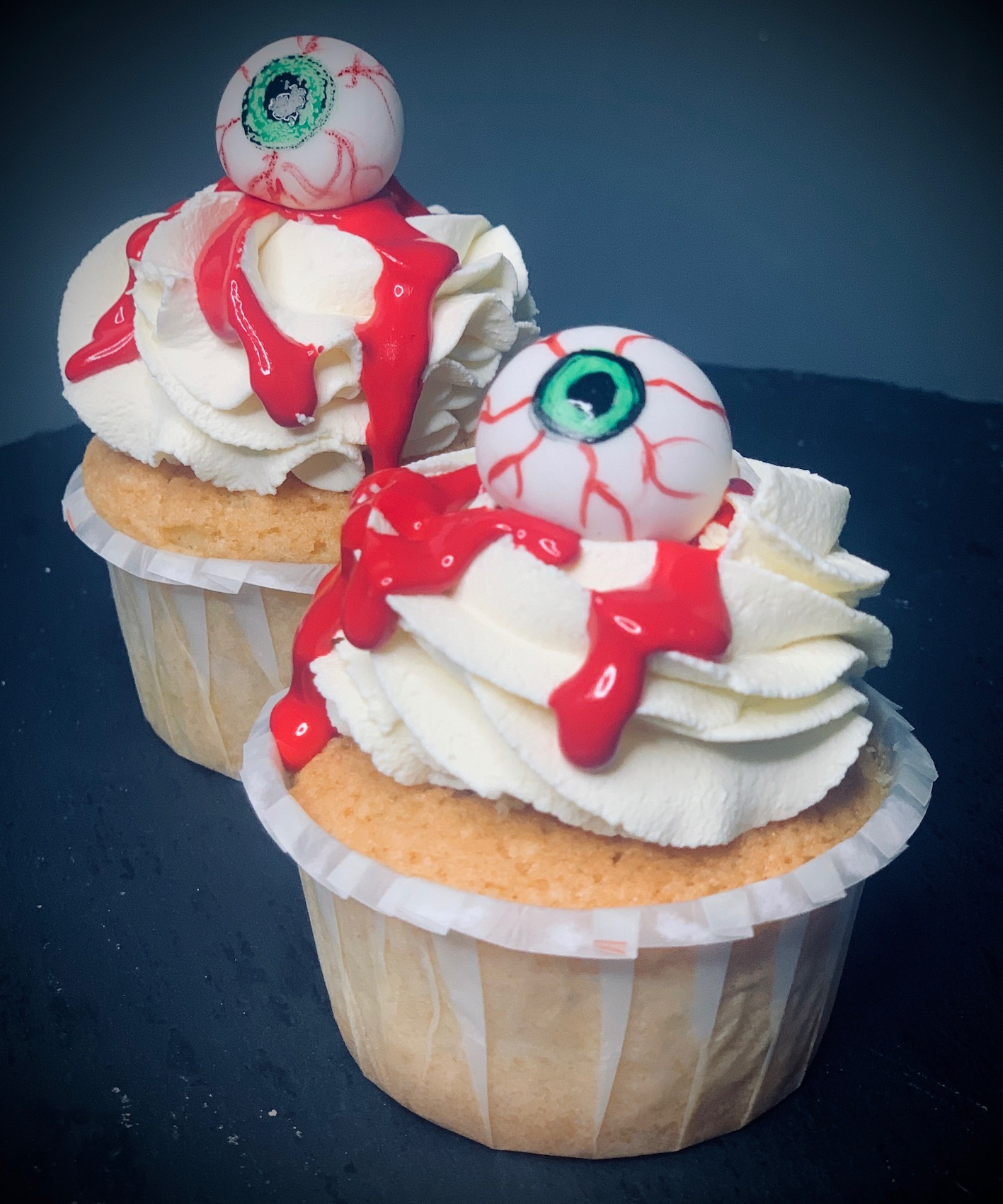 Halloween Augen Cupcakes